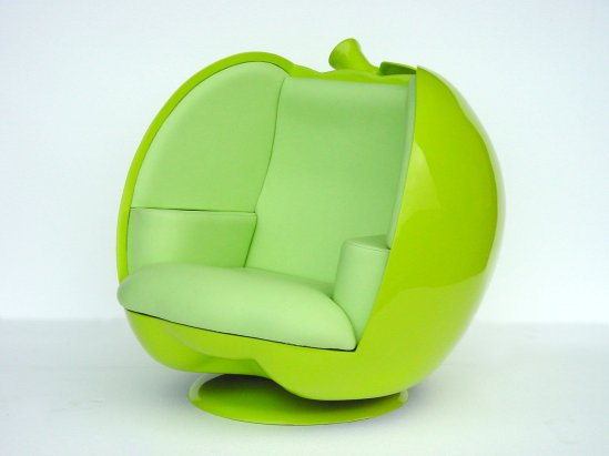 green apple chair