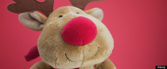 Rudolph the red-nosed reindeer soft toy teddy