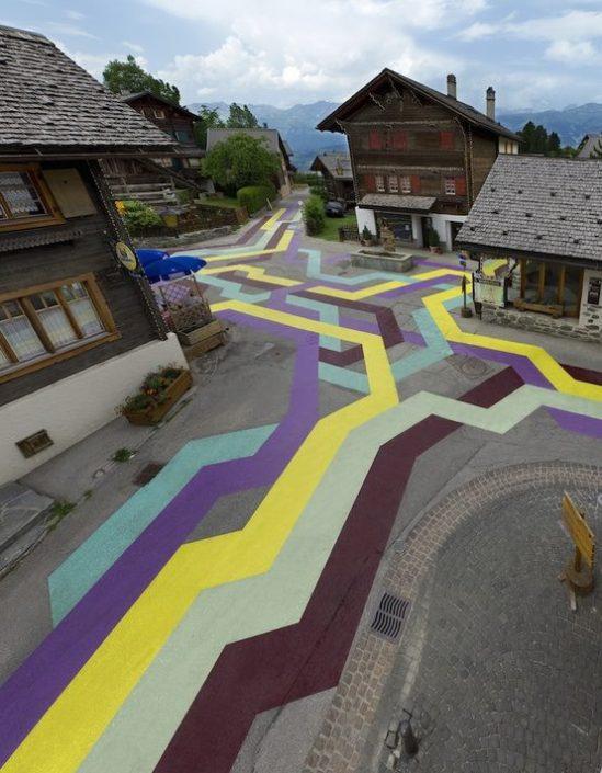 Street Painting by Lan gBaumann, Vercorin, Switzerland, 2010
