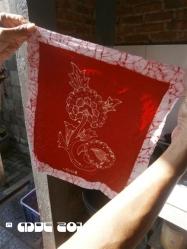 Tadah! Our first batik !