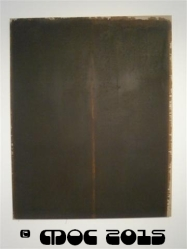 """Burnt Umber and Ultramarin, Yun Hyong - Keun At the exhibition """"EMPTY FULLNESS, Materiality and Spirituality in Contemporary Korean Art"""", held at National Gallery, Jakarta"""