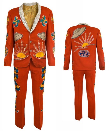 Roswell-themed suit with UFOs made for Keith Richards